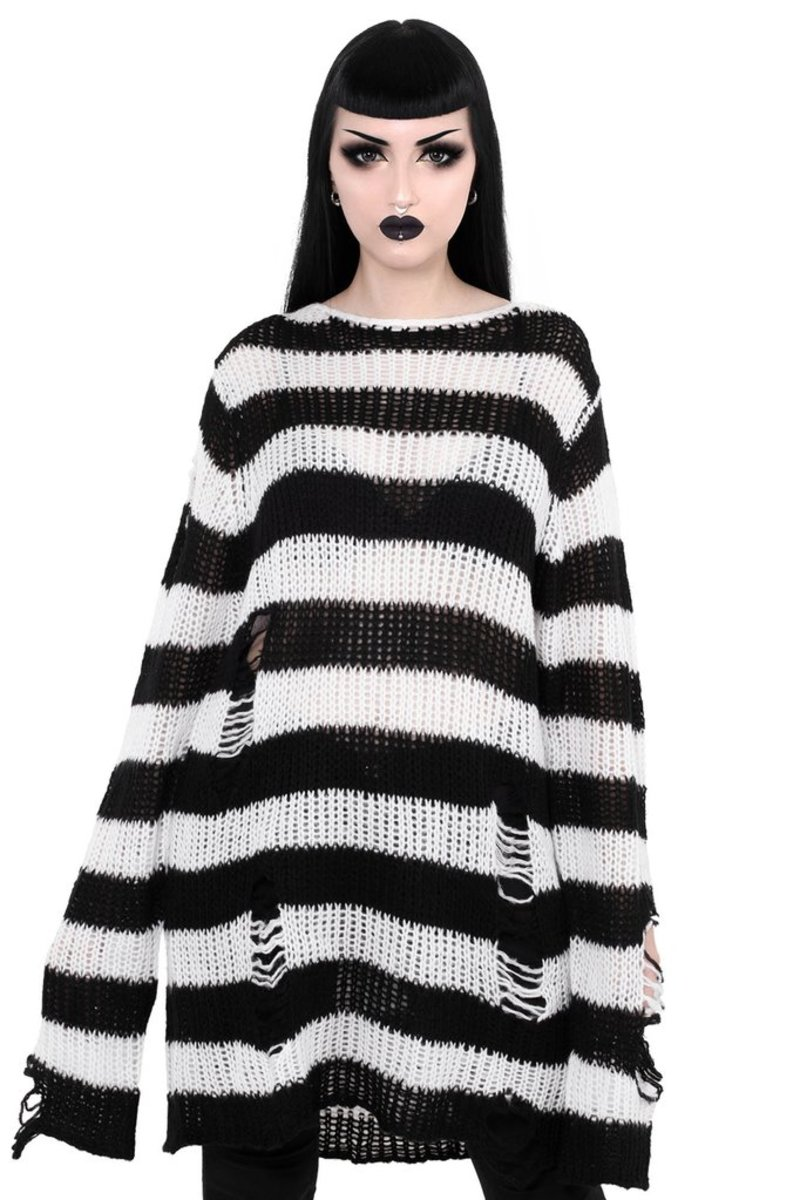 svetr unisex KILLSTAR - Pugsley Knit - BLACK - K-KNT-U-1287