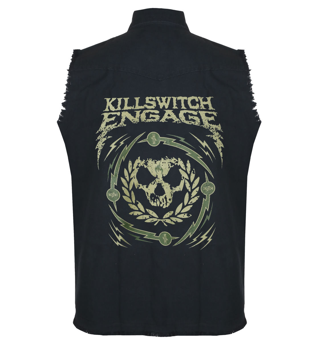 vesta RAZAMATAZ Killswitch Engage Skull Wreath XL