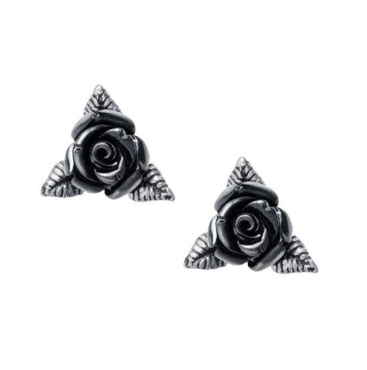 náušnice ALCHEMY GOTHIC - Ring O Roses - Pewter - E447