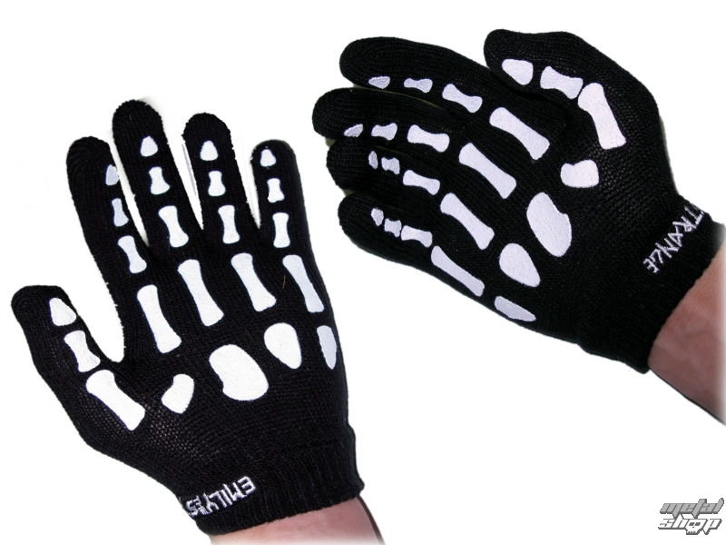 rukavice EMILY THE STRANGE - Emily (E3082302) Emily Skeleton Gloves