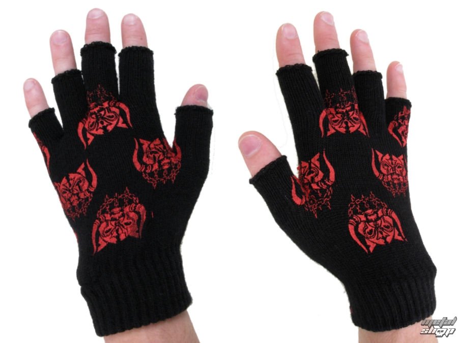 rukavice bezprsté EMILY THE STRANGE - Emily (E4082310) Kittyhead Rocker Gloves