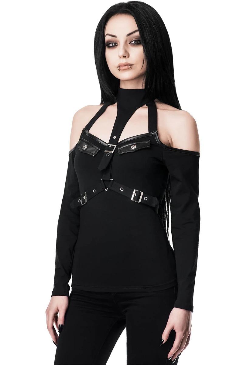 Levně tričko KILLSTAR Seige Halter černá XL