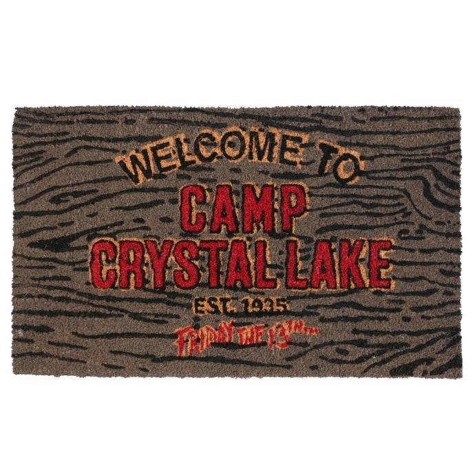 NNM Friday the 13th Doormat Welcome To Camp