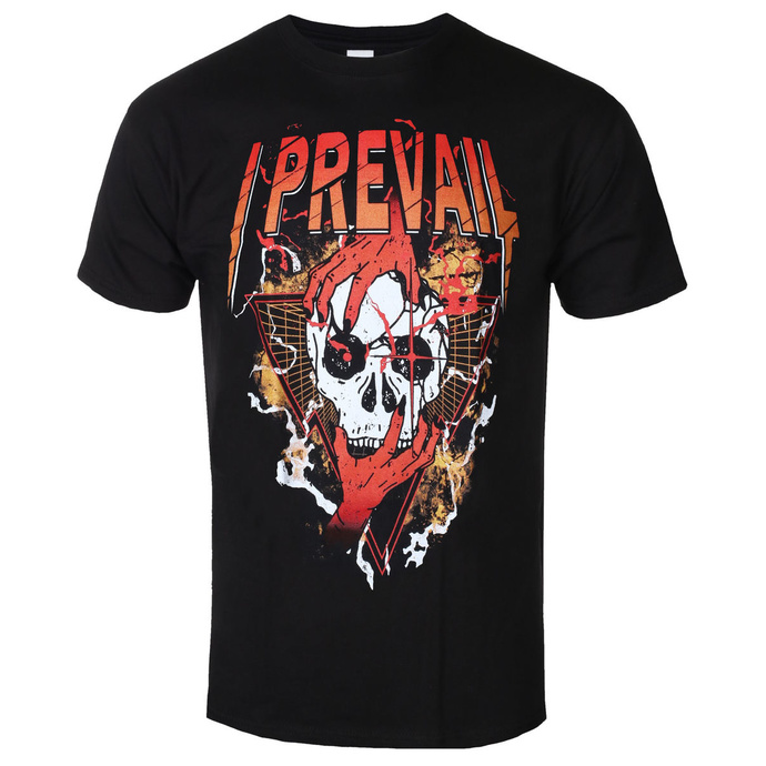 Tričko metal KINGS ROAD I Prevail Orange Skull černá S