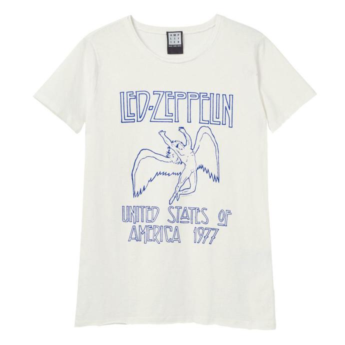 tričko metal AMPLIFIED Led Zeppelin 77 FLOCK černá L