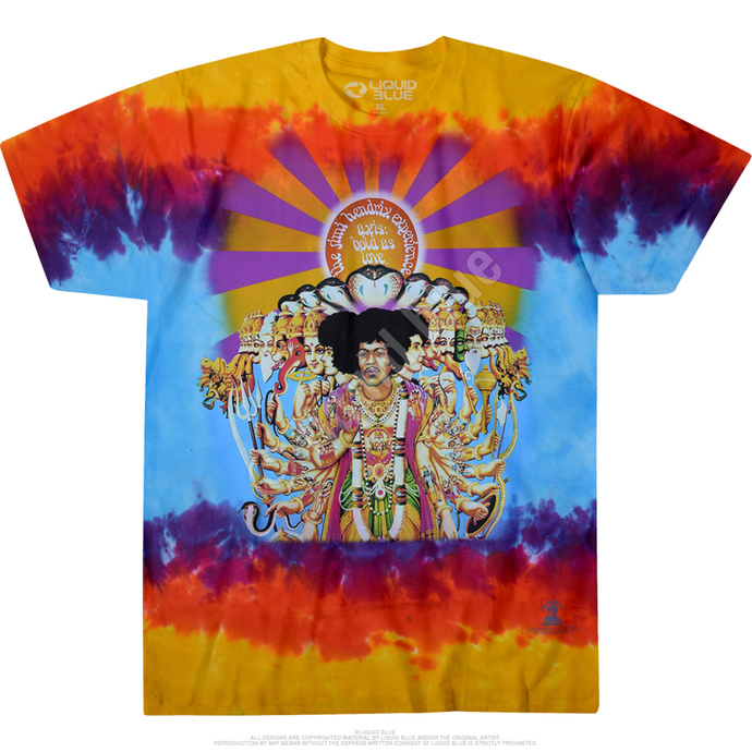 Tričko metal LIQUID BLUE Jimi Hendrix BOLD AS LOVE černá 4XL