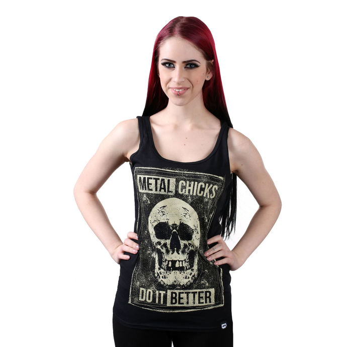 tílko METAL CHICKS DO IT BETTER SKULL XSS