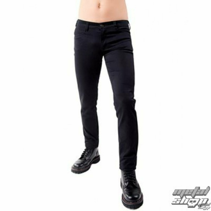 kalhoty gothic BLACK PISTOL Close Pants Denim Black 28