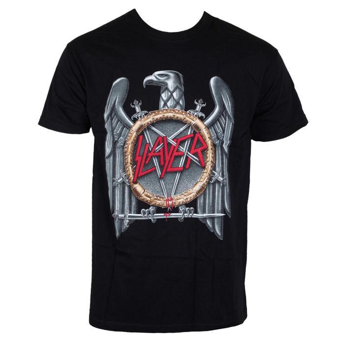 Tričko metal ROCK OFF Slayer Eagle černá béžová vícebarevná XL