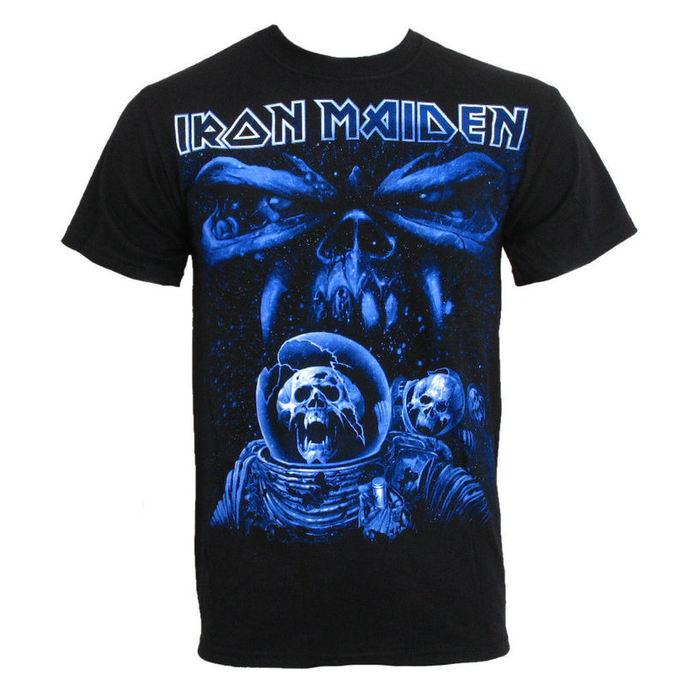 tričko pánské Iron Maiden - Blue Album Spaceman - ROCK OFF