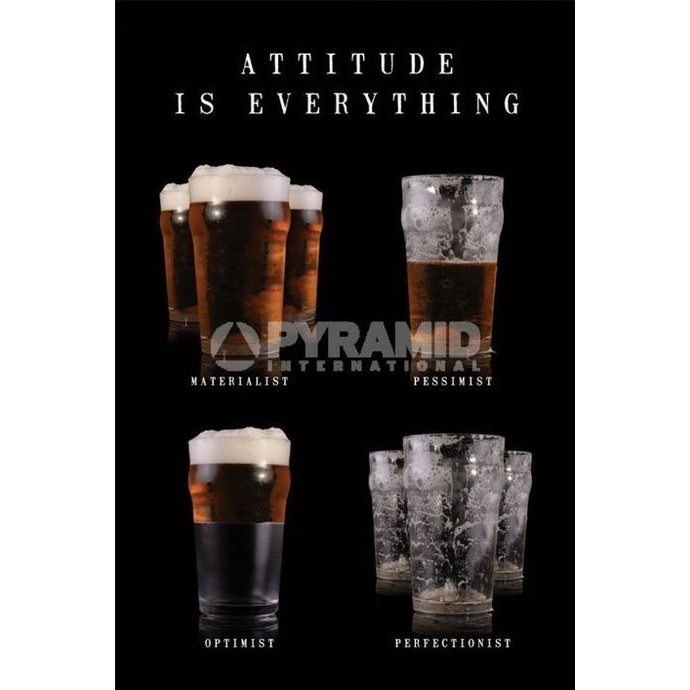 plakát Attitude Is Everything - Pyramid Posters