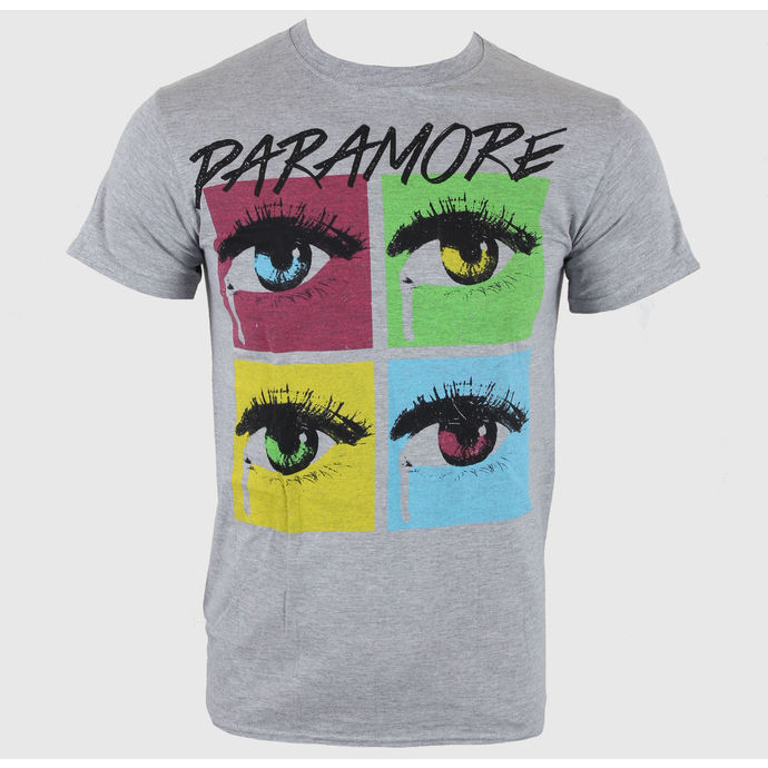 Tričko metal LIVE NATION Paramore Pop Tear Sports Grey šedá XL
