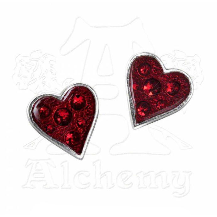 náušnice ALCHEMY GOTHIC - Hearts Blood - E332