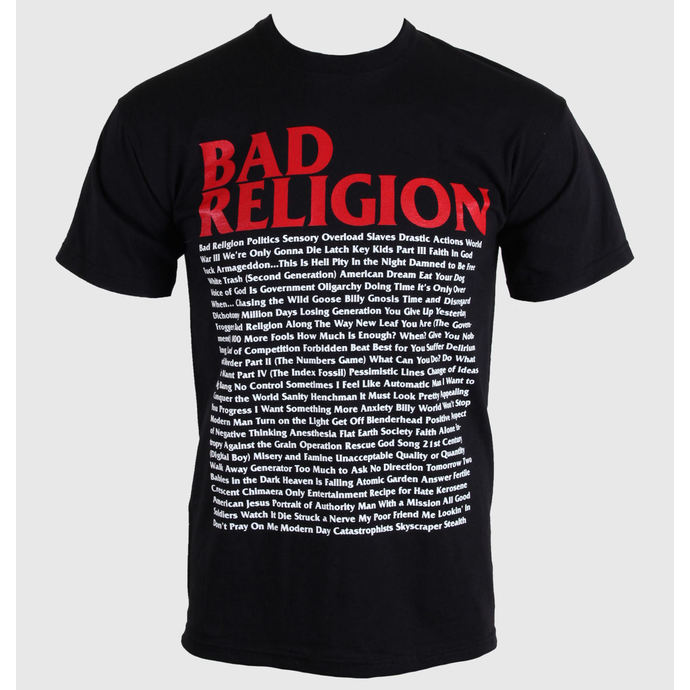 Tričko metal KINGS ROAD Bad Religion Song List černá S