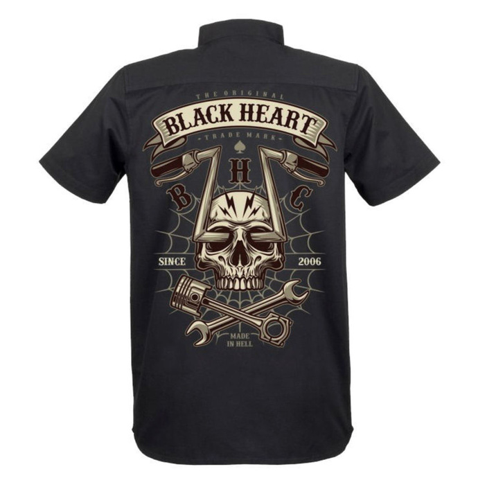 košile BLACK HEART CHOPPER SKULL M