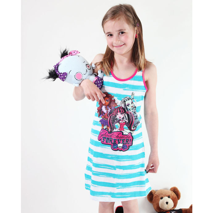 šaty TV MANIA Monster High WhiteTurquise 10140