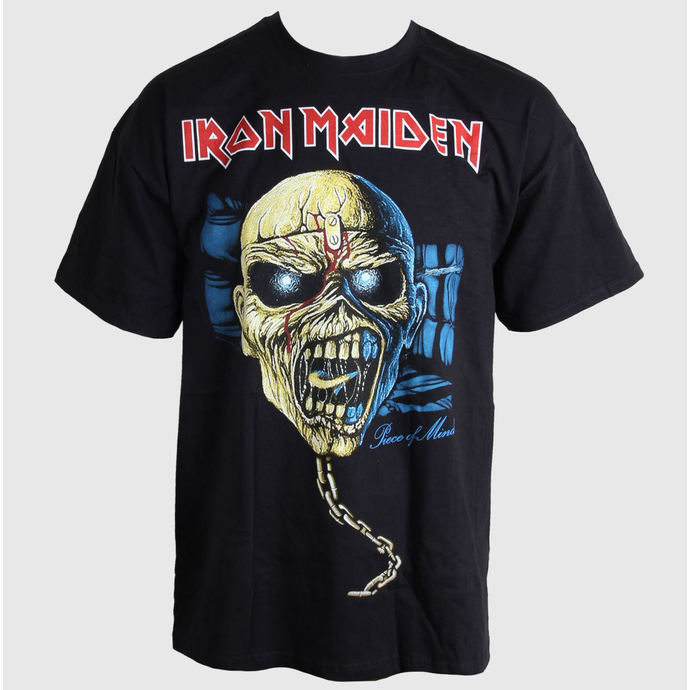 Tričko metal ROCK OFF Iron Maiden Piece of Mind Skull černá S