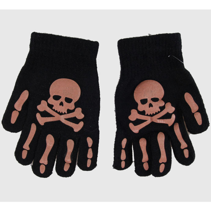 rukavice Skull - Black/Brown