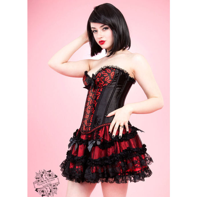 korzet HEARTS AND ROSES Hot Lips Burlesque L