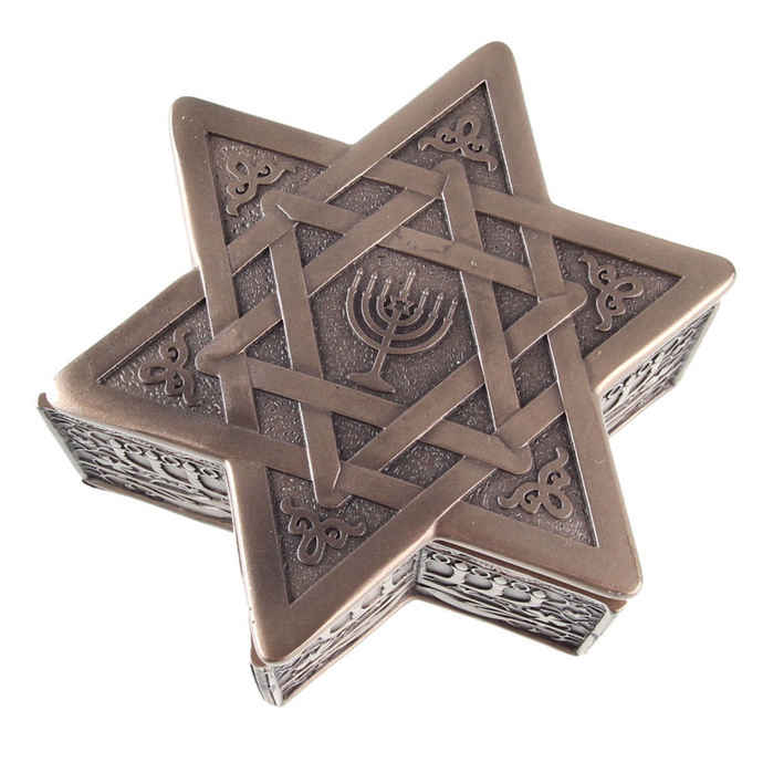krabička (dekorace) Star of David  Menorah - G1522D5