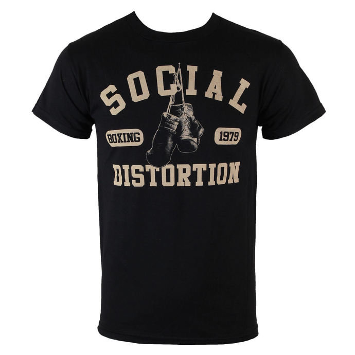 Tričko metal BRAVADO Social Distortion Boxing Gloves černá S
