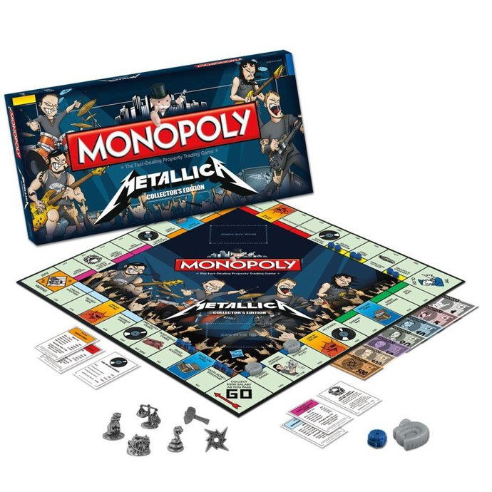 hračka NNM Metallica Rock Band Monopoly