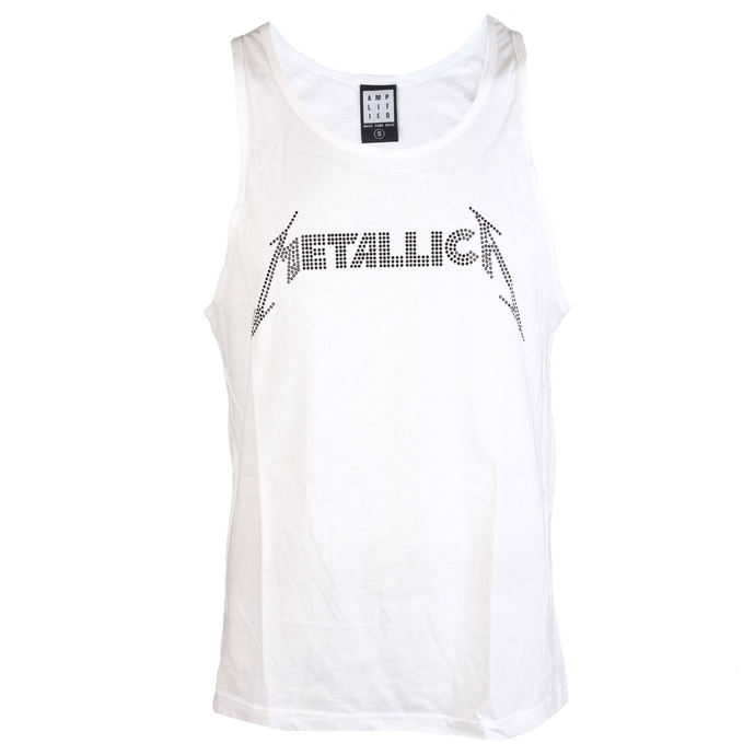 tílko AMPLIFIED Metallica LOGO WHITE M