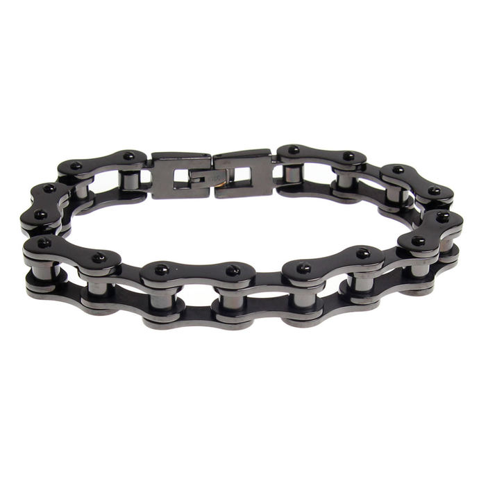 náramek ETNOX Black Bike Chain 19