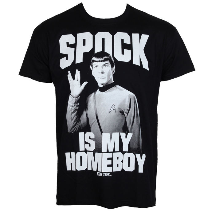 tričko pánské Star Trek - Spock Is My Homeboy - Black - HYBRIS