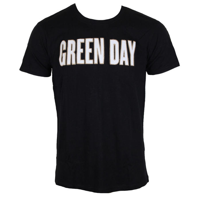 Tričko metal ROCK OFF Green Day Logo  Grenade Applique Slub černá L