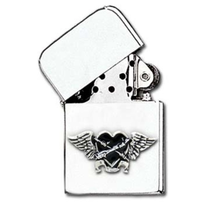zapalovač Black Heart Petrol Lighter AAZ45