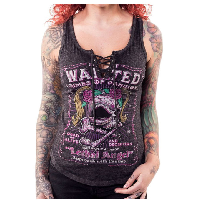 tílko LETHAL THREAT ANGEL MOST WANTED SKULL L
