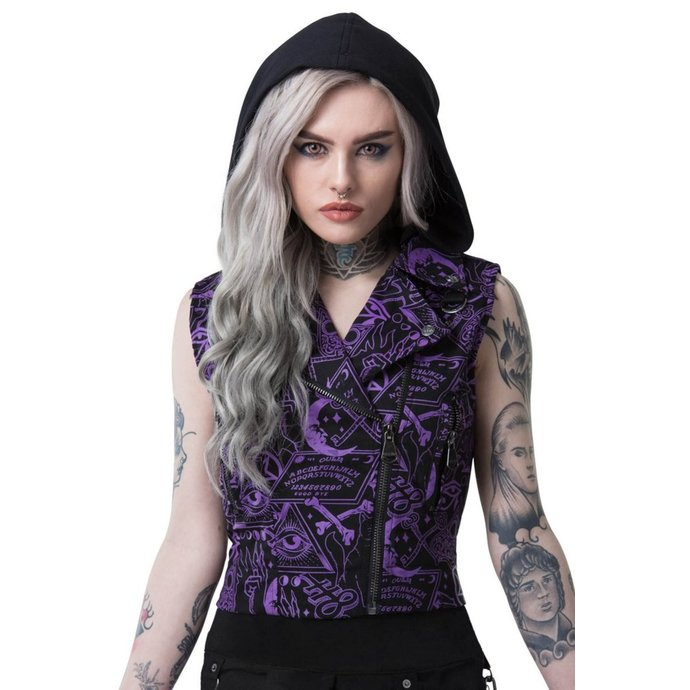 vesta KILLSTAR MISS MORBID CROPPED BIKER XL