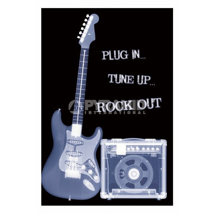 plakát Plug In... Tune Up... Rock Out - PP31159