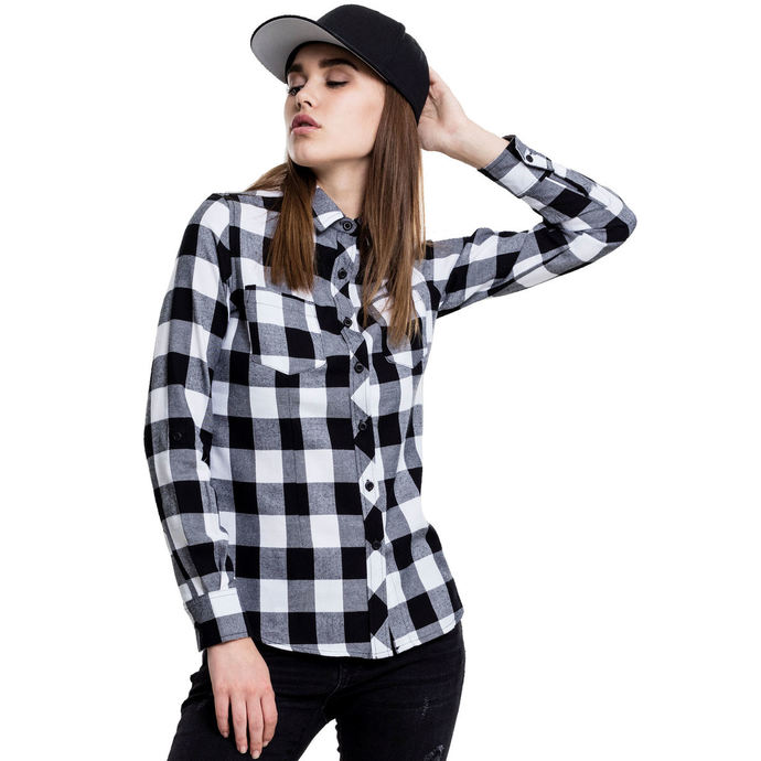 košile URBAN CLASSICS Turnup Checked Flannel XL