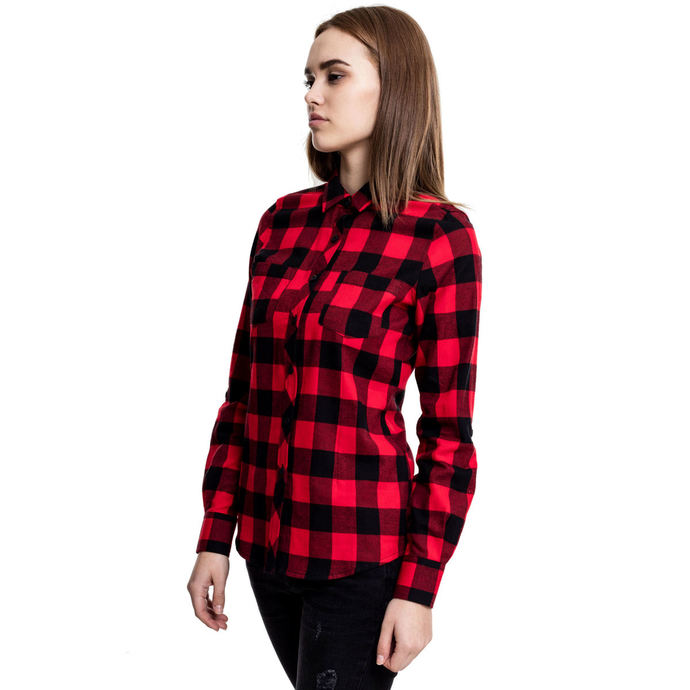 košile URBAN CLASSICS Turnup Checked Flannel L