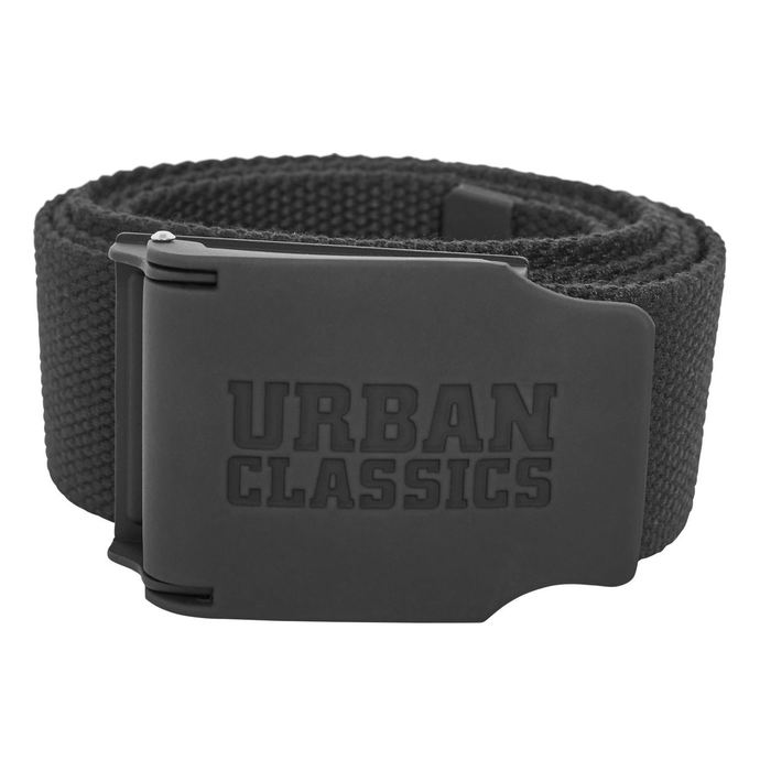 pásek URBAN CLASSICS - Woven - Rubbered Touch UC - TB2171_black