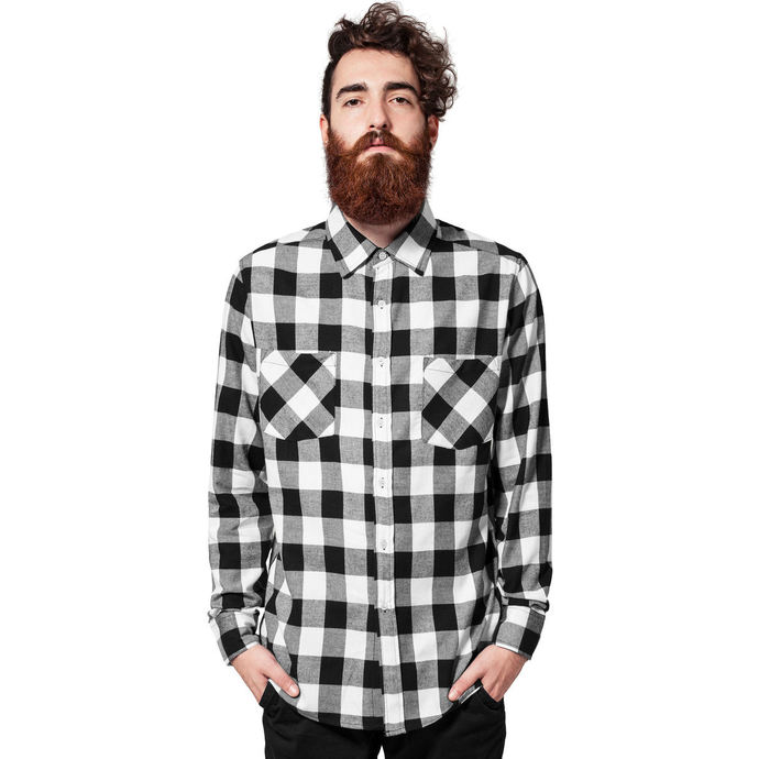 košile URBAN CLASSICS Checked Flanell M