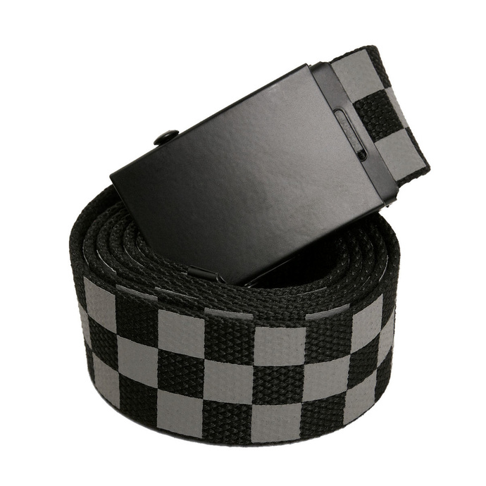 pásek URBAN CLASSICS - Adjustable Checker - blackgrey - TB3739