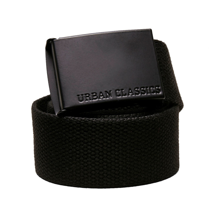 pásek URBAN CLASSICS -  Coloured Buckle Canvas - black - TB4037 SM
