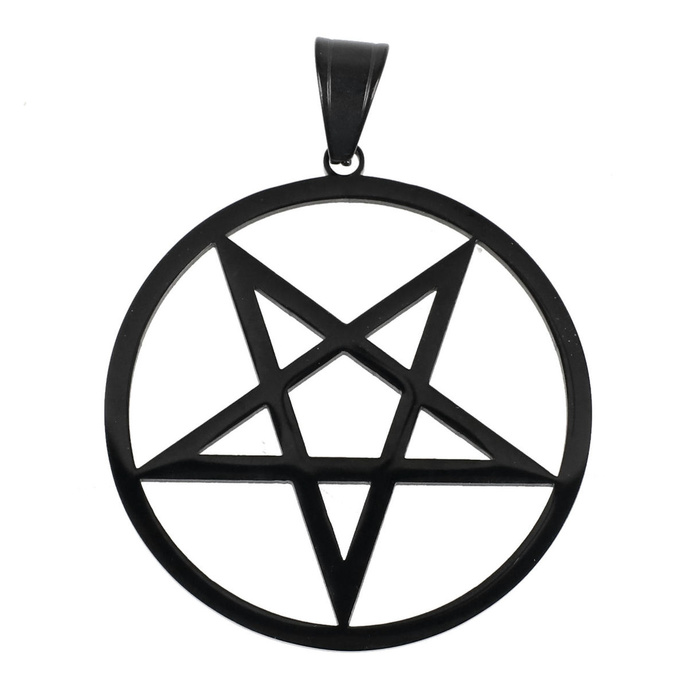 obojek ETNOX - Plain Pentagram - upside down - SK4105A