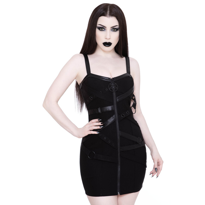 šaty KILLSTAR Bury Me Bondage Dress XS