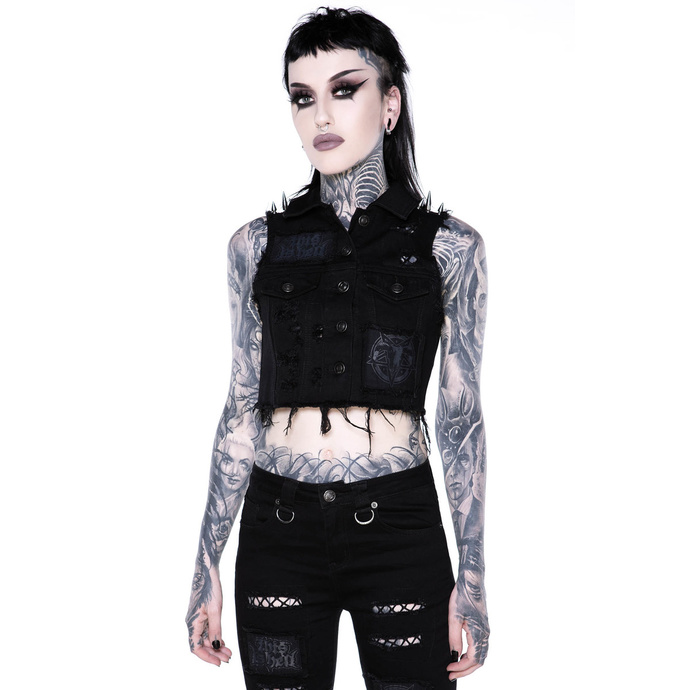 vesta KILLSTAR Come Undone Denim Vest XS