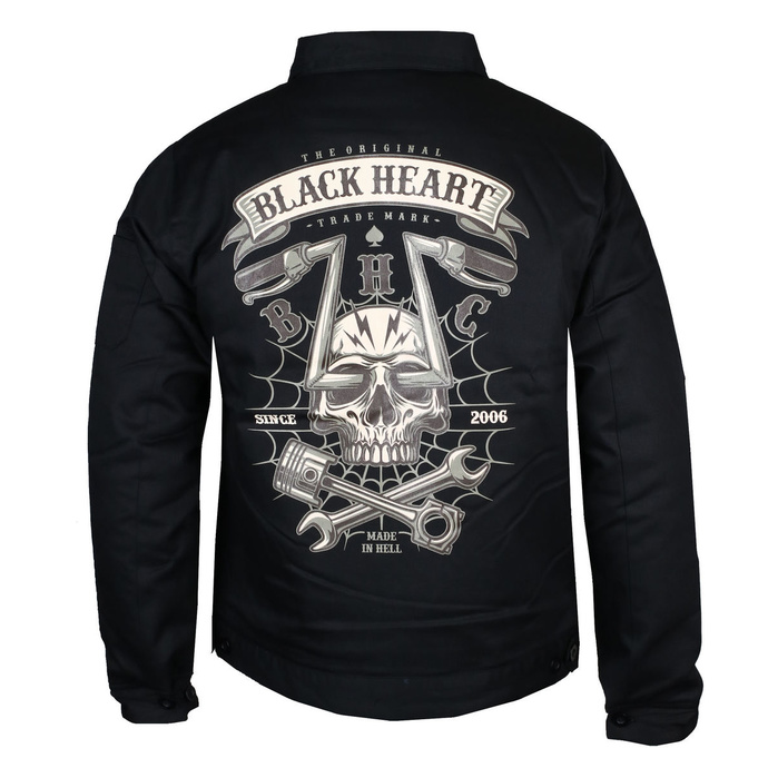 bunda jarněpodzimní BLACK HEART CHOPPER SKULL 3XL