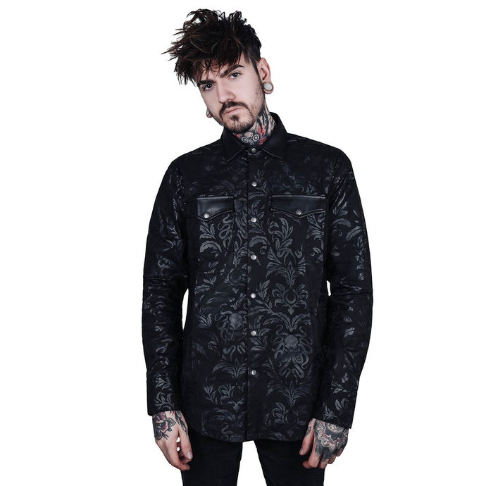 košile KILLSTAR Dark Ocean Button XS