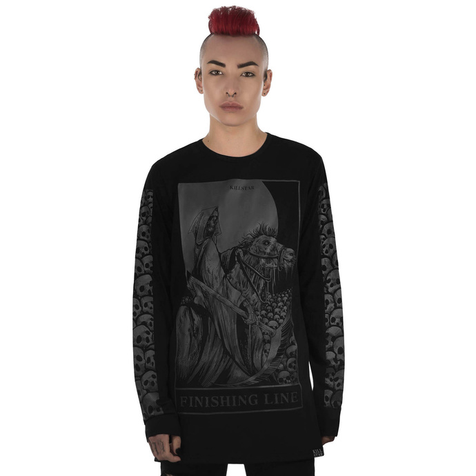 tričko KILLSTAR Finishing Line Long Sleeve Top černá XS
