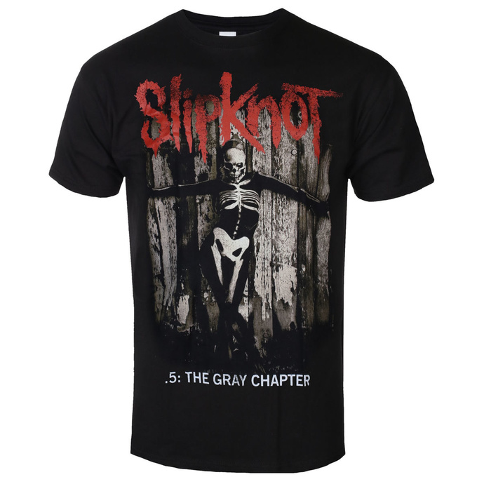 Tričko metal ROCK OFF Slipknot The Gray černá XXL