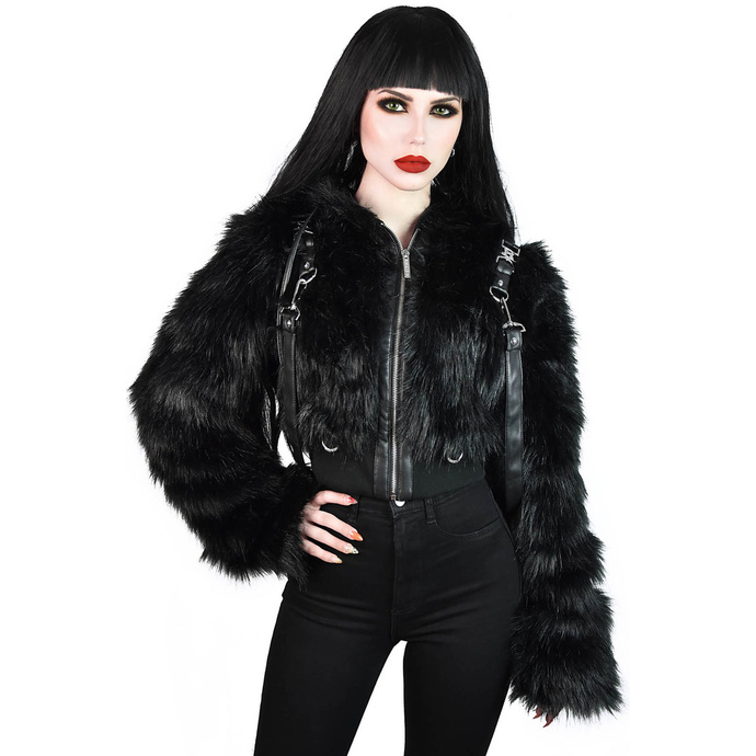 bunda zimní KILLSTAR Night Creature Faux-Fur XS