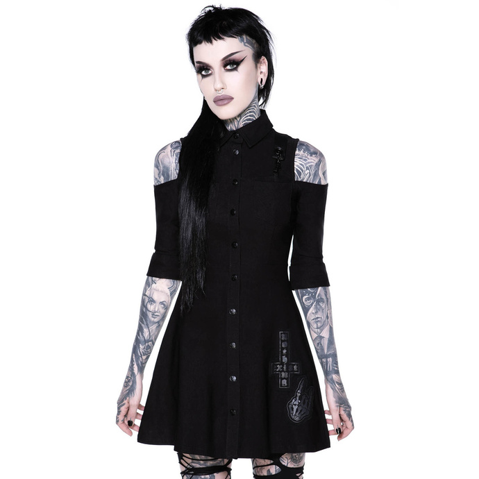 šaty KILLSTAR Paranormal Shirt-Dress XS