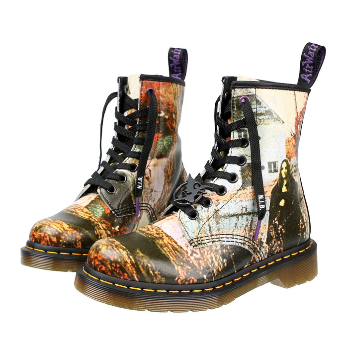 Levně boty DR. MARTENS - 8 dírkové - 1460 BLACK SABBATH - LP BLACK SABBATH - DM26315102 37